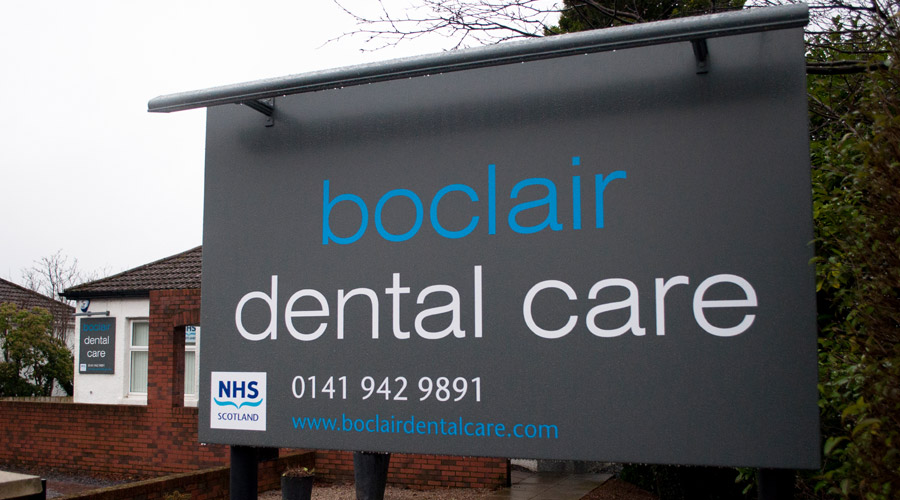 Boclair Dental Care External Signage